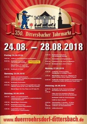 Vorschaubild zur Meldung: Programm Dittersbacher Jahrmarkt