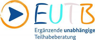 EUTB Logo, farbige Großbuchstaben EUTB