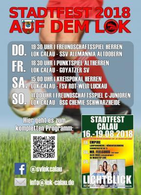 Foto zur Meldung: 27. Calauer Stadtfest: Lok Calau sorgt für die sportliche Note