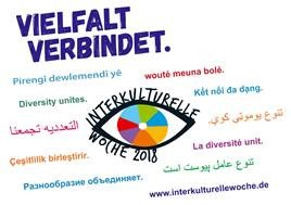 """Foto zur Meldung: Interkulturelle Woche 2018 unter dem Motto - """"VIELFALT VERBINDET - Wir sind Hoffnung. Wir sind Zuflucht. Wir sind Vielfalt."""""""