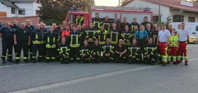 Foto zur Meldung: Gemeinsame Feuerwehrübung