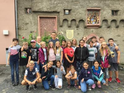 Vorschaubild zur Meldung: Klasse 6a auf Entdeckungsfahrt in Kaub am Rhein