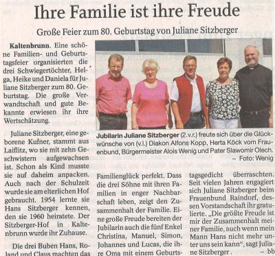 Auszug Der Bayerwald Bote vom 20.08.2018