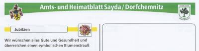 Foto zur Meldung: Einverständniserkärung für Veröffentlichung von Geburts- und Ehrentagen im Amtsblatt