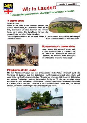 Foto zur Meldung: Infoblatt Wir in Laudert - Ausgabe 13