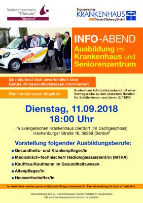 Azubi-Infoabend für Jugendliche und Eltern im Ev. Krankenhaus Dierdorf