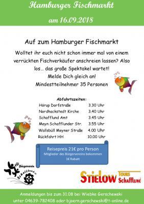 Foto zur Meldung: Bürgerverein lädt ein zum Hamburger Fischmarkt
