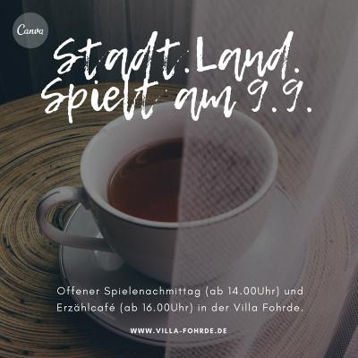 Vorschaubild zur Meldung: Stadt-Land-Spielt und Erzählcafé am 9.9.