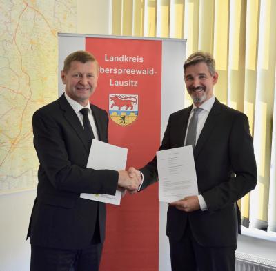 Foto zur Meldung: Premiere in Senftenberg: Kooperationsvereinbarung zur Wirtschaftsförderung