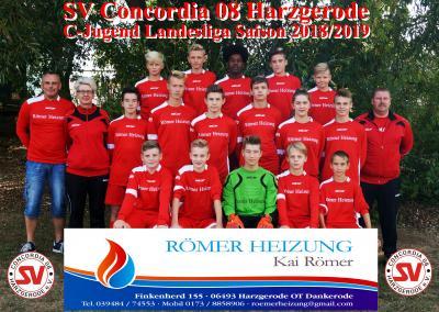 Foto zur Meldung: C-Jugend mit Punktgewinn gegen die SG Harz I