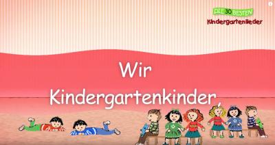 """Foto zur Meldung: Lied """"Wir Kindergartenkinder"""""""