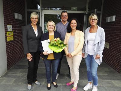 Foto zur Meldung: Begrüßung der neuen Schulleiterin der Nordschule, Frau Claudia Paulo