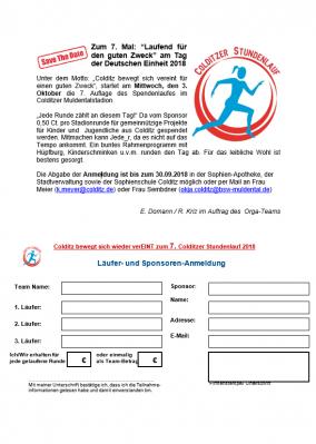 Vorschaubild zur Meldung: Colditz bewegt sich wieder verEINT zum 7. Colditzer Stundenlauf 2018