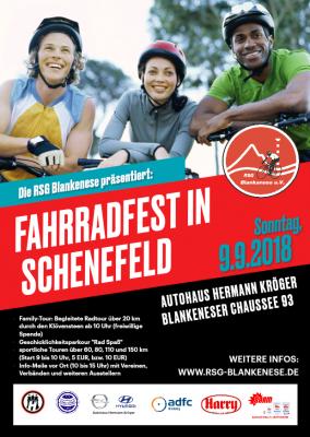 Vorschaubild zur Meldung: Fahrradfest in Schenefeld – Blau-Weiß ist dabei