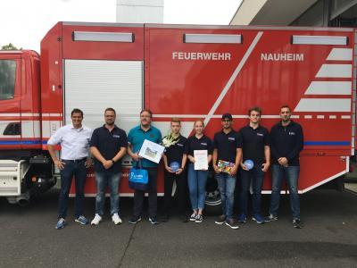 Foto zur Meldung: Leitungswechsel Jugendfeuerwehr Nauheim