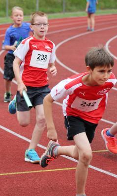 Foto zur Meldung: Leichtathletikschnuppertraining beim LAZ Puma Rhein-Sieg