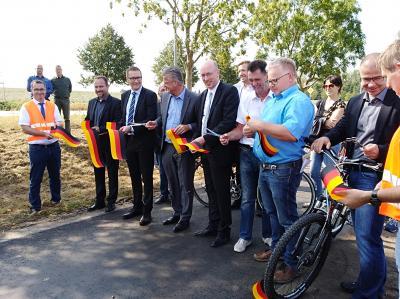 Verkehrsfreigabe des Radweges Spornitz Parchim, Foto:WH