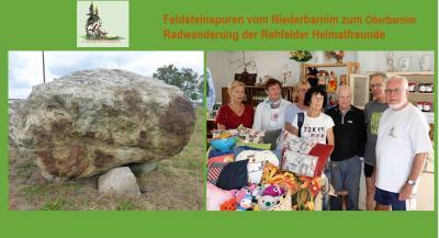 Foto zur Meldung: Heimatfreunde wieder auf Feldsteinspuren