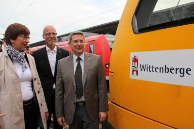 """Vorschaubild zur Meldung: Ein ODEG-Zug erhält den Namen """"Wittenberge"""""""