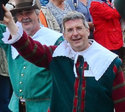 Bürgermeister Dr. Oliver Hermann im Festumzug zum BRANDENBURG-TAG. I Foto: Gerhard Baack