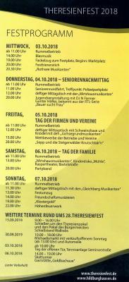 Foto zur Meldung: Herzlich willkommen zum 28. Theresienfest!