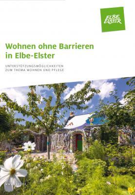 """Foto: Das Titelbild der neuen Ratgeberbroschüre des Landkreises """"Wohnen ohne Barrieren in Elbe-Elster""""."""