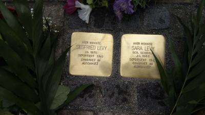Vorschaubild zur Meldung: Stolpersteinverlegung in Wiesenau