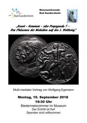 """Vorschaubild zur Meldung: """"Kunst, Komerz oder Propaganda?"""" - Das Phänomen d. Medaillen auf d. 1. Weltkrieg"""