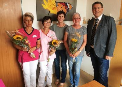 v.l.: Saskia Matthias, Christine Werner, Andrea Zieprich, Antje Schenk, Mario Kannegießer