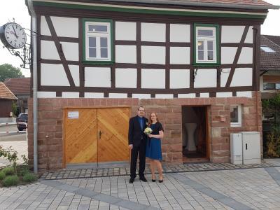 """Vorschaubild zur Meldung: Erstes Hochzeitspaar """"traut"""" sich im """"Alten Rathaus Neudorf"""""""