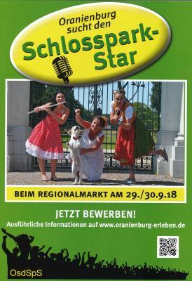 Vorschaubild zur Meldung: Oranienburg sucht den Schlossparkstar ... der auch aus Kremmen kommen darf...