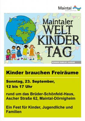 """Vorschaubild zur Meldung: 26. Maintaler Weltkindertag """"Kinder brauchen Freiräume"""""""