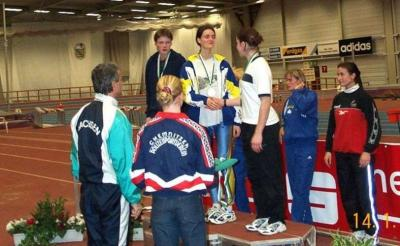 Foto zur Meldung: Erste Landeshallenmeisterschaft 2001 - Katrin Klupsch holt Meistertitel im Mehrkampf für den LSV Niesky