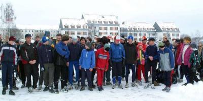 Foto zur Meldung: 4. Paarlauf im Tiefschnee mit 100 Läufern