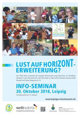 Vorschaubild zur Meldung: Info-Seminar zur freiwilligen Mitarbeit beim Leipziger Missionswerk