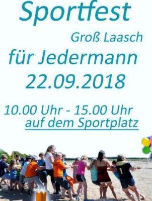 Foto zur Meldung: Groß Laasch - Auf zum Sportfest für die ganze Familie!
