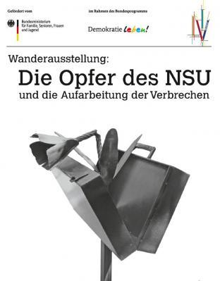 """Zur Einleitung der Reihe wird vom 21. September bis 4. November 2018 im Haus am Anger (Falkenhagener Straße 16) die Wanderausstellung """"Die Opfer des NSU"""" präsentiert."""