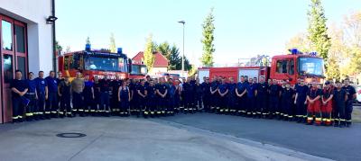 Foto zur Meldung: Einsatzkräfte aus dem OSL-Kreis leisten Unterstützung bei Brand in Lieberoser Heide
