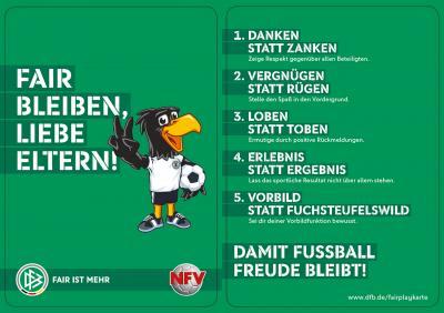 Foto zur Meldung: Jugend - Fair bleiben liebe Eltern !  DAMIT FUSSBALL FREUDE BLEIBT !