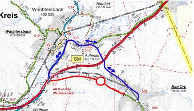 """Vorschaubild zur Meldung: L 3199: Vollsperrung der Strecke zwischen """"Eisener Hand"""" und Bad Orb"""