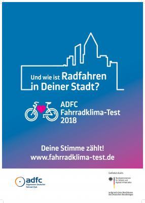 Plakat Fahrradklimatest