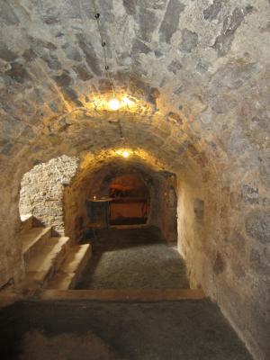 Blick in die Kellergewölbe unter dem Rathaus