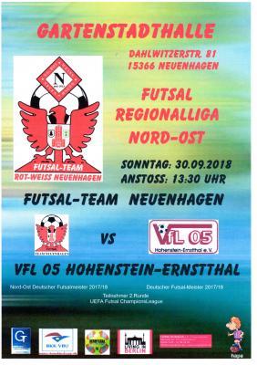 Flyer Heimspiel Futsal