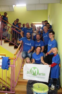 Freiwilligentag der Metropolregion Rhein Neckar im Kath. Kindergarten Meckesheim