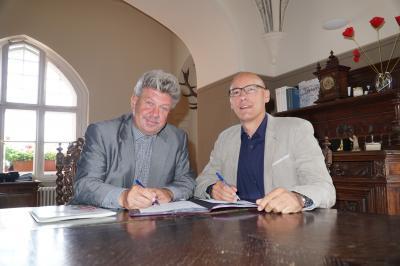 Foto zu Meldung: Neue Partner in der Kooperation Pritzwalk-Wittstock/Dosse