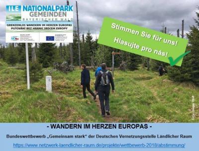 Grenzenlos Wandern im Herzen Europas- Das Vorzeigeprojekt der ILE Nationalpark Gemeinden