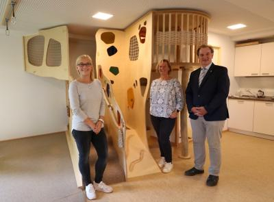 Foto zur Meldung: Kindergarten Ellern erhält Spiel- und Bewegungslandschaft