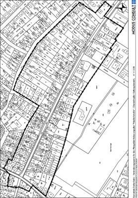 """Vorschaubild zur Meldung: Satzung über die Veränderungssperre für das Plangebiet Bebauungsplan """"Friedrichstraße"""""""