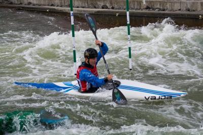Foto zur Meldung: Deutsche Meisterschaften der Jugend/Junioren und Leistungsklasse im Kanuslalom in Markkleeberg 2018