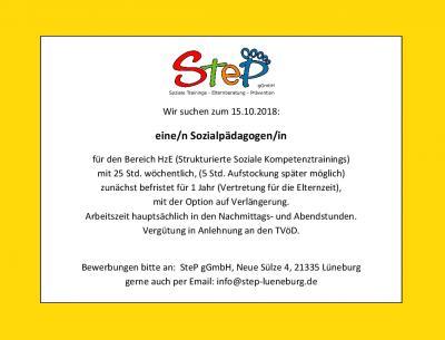 Vorschaubild zur Meldung: Update - Die Stelle ist besetzt: Sozialpädagoge (m/w) gesucht!